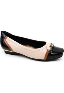 Sapato Piccadilly Feminina - Feminino-Rose Gold