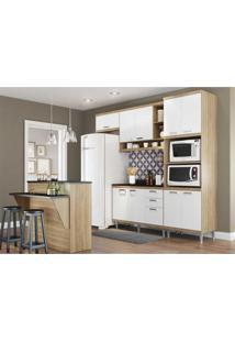 Cozinha Completa Multimóveis Com 8 Peças Sicília 5844 Argila/Branco