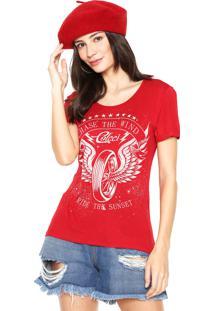 Camiseta Colcci Slim Vermelha