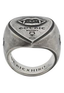 Yohji Yamamoto Vampire Engraved Ring - Prateado