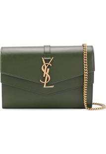 Saint Laurent Bolsa Transversal Envelope - Verde