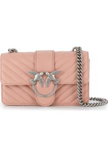 Pinko Bolsa Transversal Love - Rosa