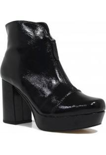 Bota Zariff Shoes Ankle Boot Verniz