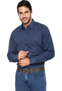 Camisa Aramis Manga Longa Slim Menswear Azul-Marinho