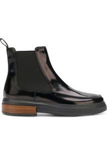 Tod'S Ankle Boot De Couro Envernizado - Preto