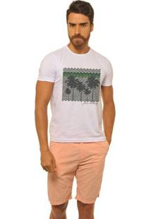 Camiseta Joss New Coqueiros Geometricos Masculina - Masculino-Branco