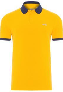 Polo Masculina Manga Curta - Amarelo