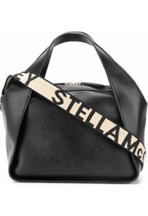 Stella Mccartney Bolsa Tote Stella Mini Com Logo - Preto