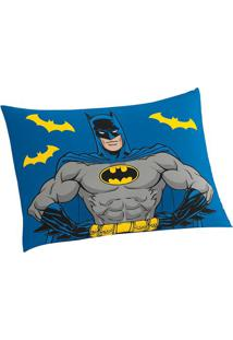 Fronha Do Batman®- Azul & Cinza- 70X50Cm- Lepperlepper
