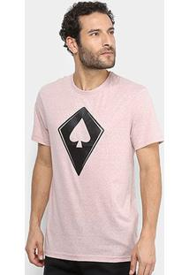 Camiseta Mcd Com Logo Masculina - Masculino-Rosa Claro