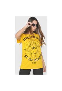 Camiseta Colcci Intuição Amarela