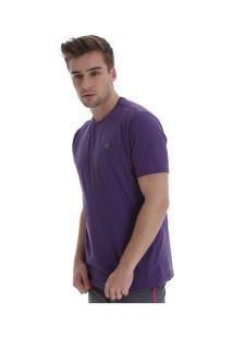 Camiseta Fatal Fashion Basic 22225 - Masculina - Roxo Escuro