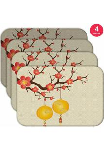 Jogo Americano Love Decor Wevans Chinese Kit Com 4 Pçs