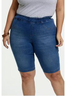 Bermuda Feminino Jeans Bolsos Plus Size