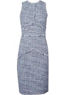 Vestido Le Lis Blanc Natalia Midi Alfaiataria Azul Feminino (Azul Claro, 38)