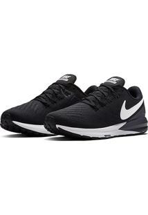 Tênis Nike Air Zoom Structure 22 Feminino - Feminino-Preto+Branco