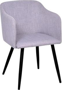 Poltrona Charlote- Cinza & Preta- 78,5X72X51,5Cmor Design