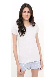 Pijama Estampado Com Short Poá