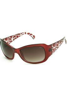 Óculos De Sol Adulto Sun John Gama - Vermelho