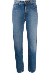 Marc Jacobs Calça Jeans Reta Com Patch - Azul