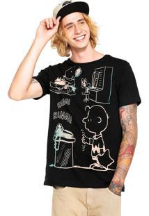 Camiseta Snoopy Ring Preta