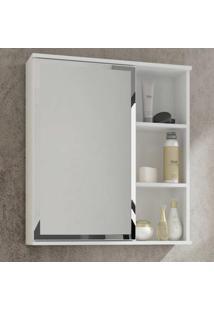 Espelheira Para Banheiro Treviso Branco - Mgm