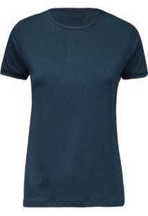 Camiseta Feminina Decote Careca Essencial Indigo