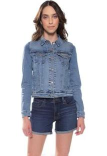 Jaqueta Jeans Levis Trucker - Feminino-Jeans Claro