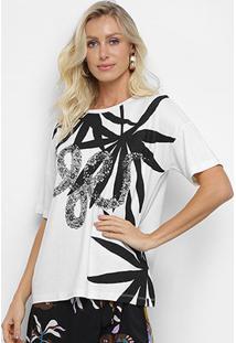Camiseta Cantão Cobra Feminina - Feminino-Off White