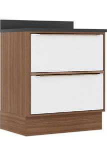 Armário De Cozinha 1 Porta 1 Gaveta 5402R Nogueira/Branco - Multimóveis