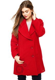 Jaqueta Desigual Athan Vermelho