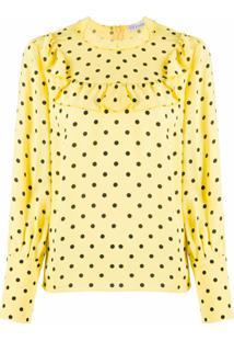 Redvalentino Polka Dot Blouse - Amarelo