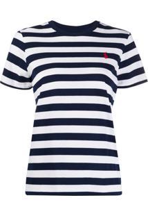 Polo Ralph Lauren Camiseta Com Logo No Busto - Azul
