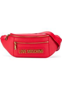 Love Moschino Pochete Com Placa De Logo - Vermelho