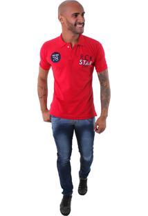 Camisa Polo Rockstar 78 Vermelha