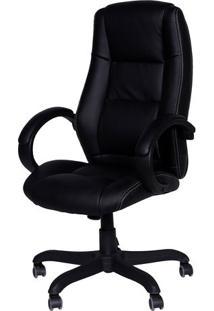 Cadeira Office Executiva- Preta- 116,5X65X50Cm- Or Design
