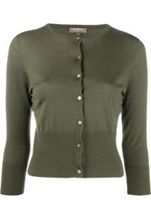 N.Peal Cardigan Cropped De Cashmere - Verde