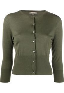 N.Peal Cardigan Cropped De Cashmere - Verde