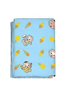 Edredom Bebê Masculino Cebolinha E Cascão Baby Azul (85X130Cm) - Turma Da Mônica - Tamanho Único - Azul