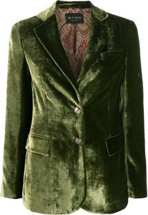 Etro Blazer Com Abotoamento Único - Verde