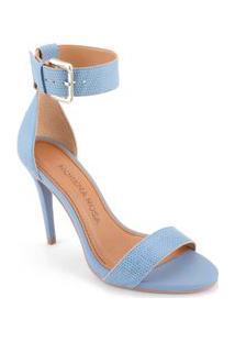 Sandalia Super Alto Traseiro Fechado Azul