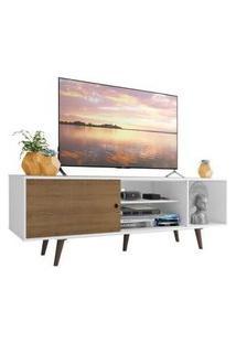 Rack Madesa Dubai Para Tv Até 65 Polegadas Com Pés Branco/Rustic/Rustic