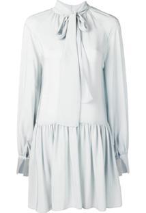 Stella Mccartney Vestido Com Amarração Na Gola - Cinza
