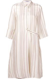 Jil Sander Striped Shirt Dress - Neutro