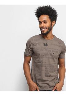 Camiseta All Free World Tour Masculina - Masculino-Café
