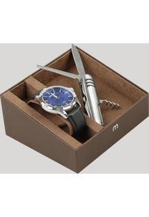 Kit De Relógio Analógico Mondaine Masculino + Canivete - 83404G0Mvnh1Ka Prateado - Único