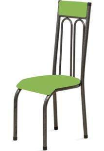 Cadeira Marcheli Anatômica 0.120 Estofada Craqueado/Verde