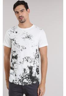 Camiseta Em Tricô Com Estampa Off White