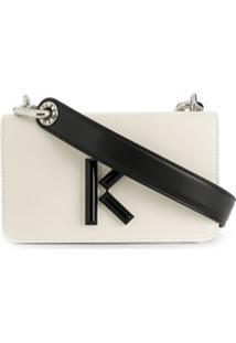 Kenzo Bolsa Transversal Bicolor - Branco