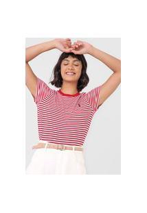Camiseta Polo Ralph Lauren Listrada Vermelha